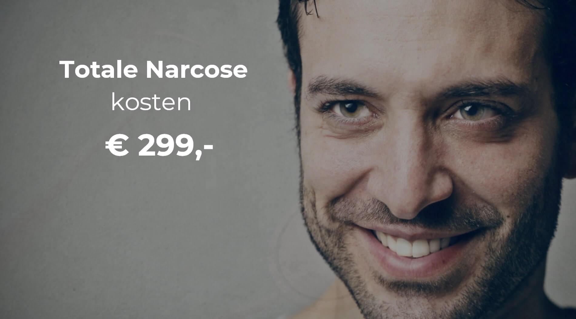 kunstgebit narcose 299 euro man met tekst aangepast min